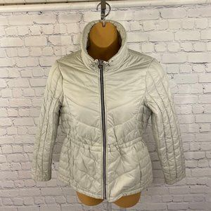 Guess Women's Gray Lightweight Puffer Jacket